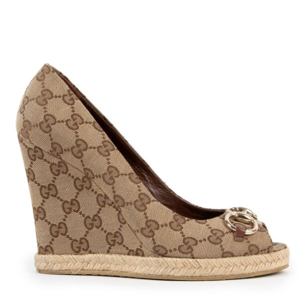 Gucci Monogram Wedges - size 39 for the best price at Labellov
