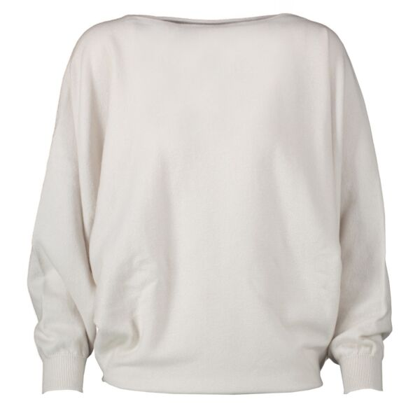Hermès Cream Cashmere Sweater - Size 34