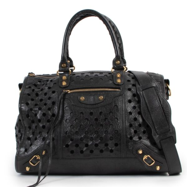 Buy this  Balenciaga Black City Kraft Polka Dots Limited Edition at Labellov online or in store for a reasonable price and in good condition.