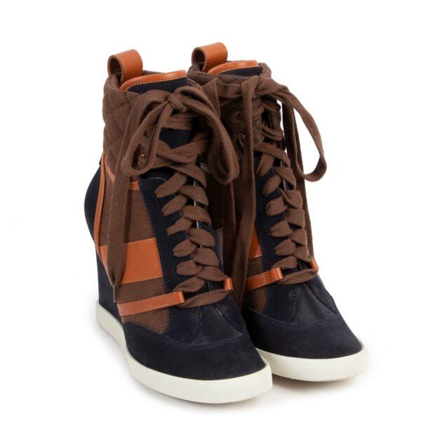 Chloé Multicolor Wedge Sneakers