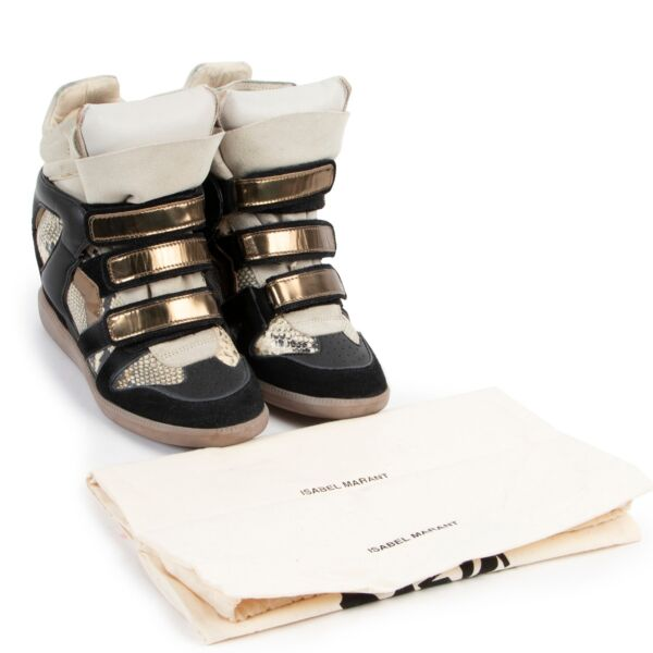 Isabel Marant Bobby White Leather Sneakers - Size 37