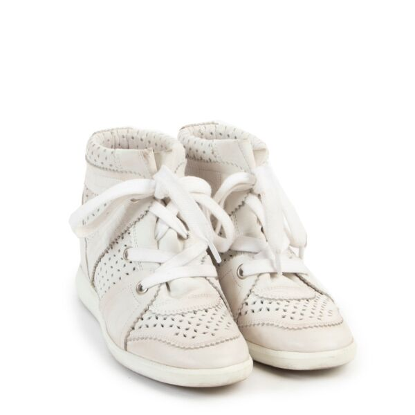 Isabel Marrant White Leather Sneakers - Size 37