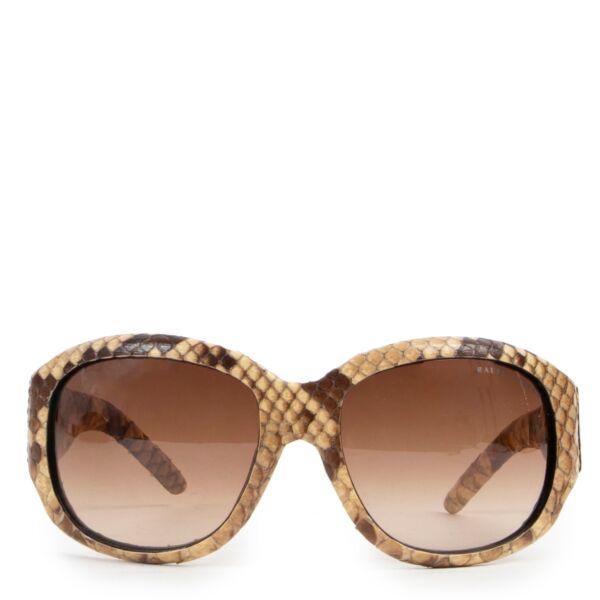 Ralph Lauren Brown Python Sunglasses