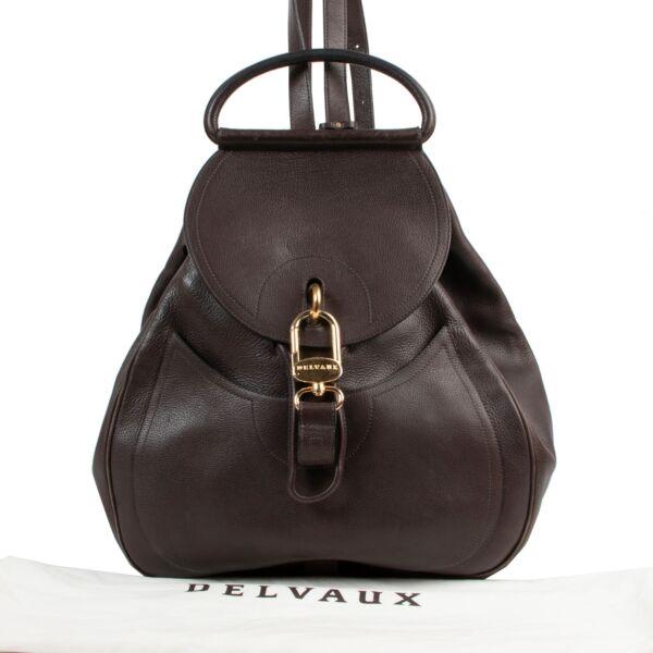 Delvaux Brown Cerceau GM Backpack