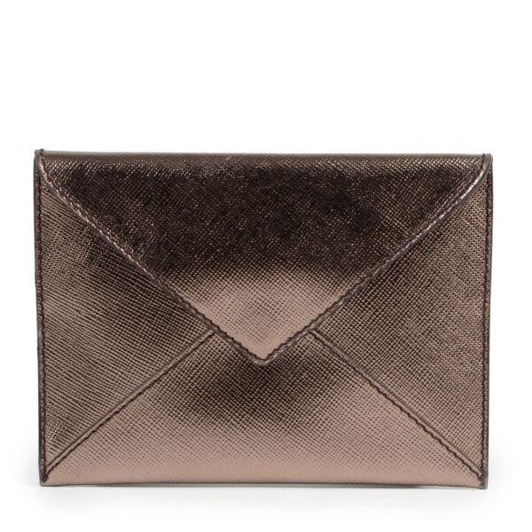 Prada Metallic Bronze Mini Enveloppe