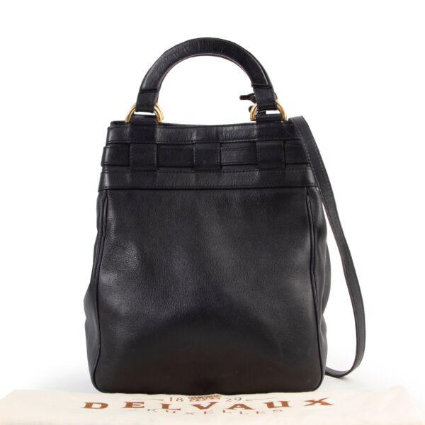 Delvaux Blue Roseau Bucket Bag