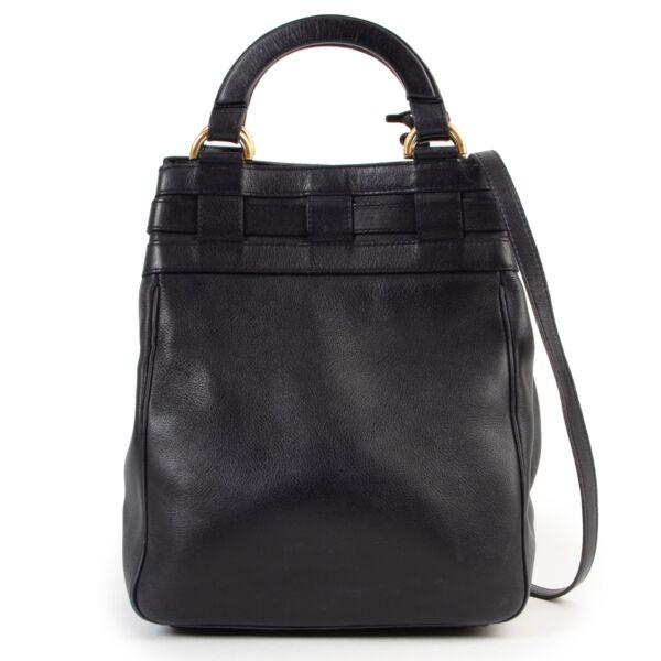 Shop safe online authentic second hand Delvaux Blue Roseau Bucket Bag at Labellov.com.