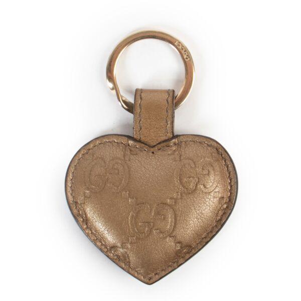 Gucci Gold Metallic Keychain