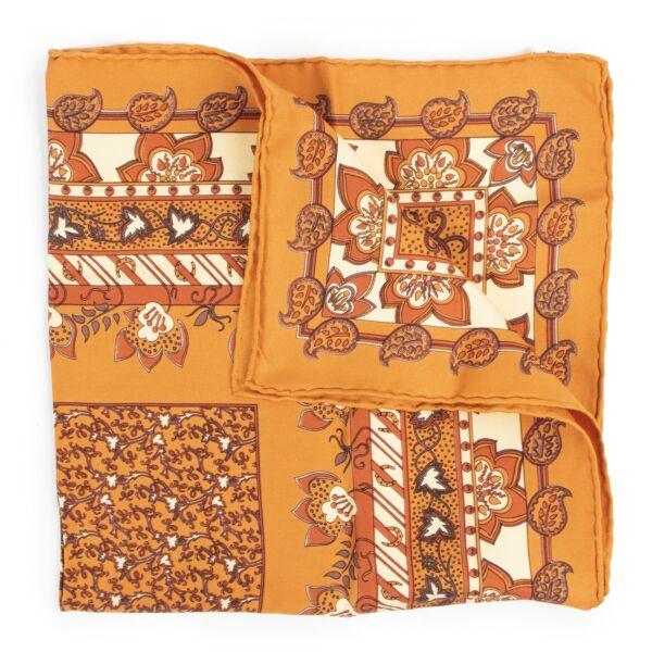 Hermès Orange Silk Pochette Scarf