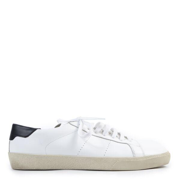 Saint Laurent White Signature Court Sneakers - Size 42