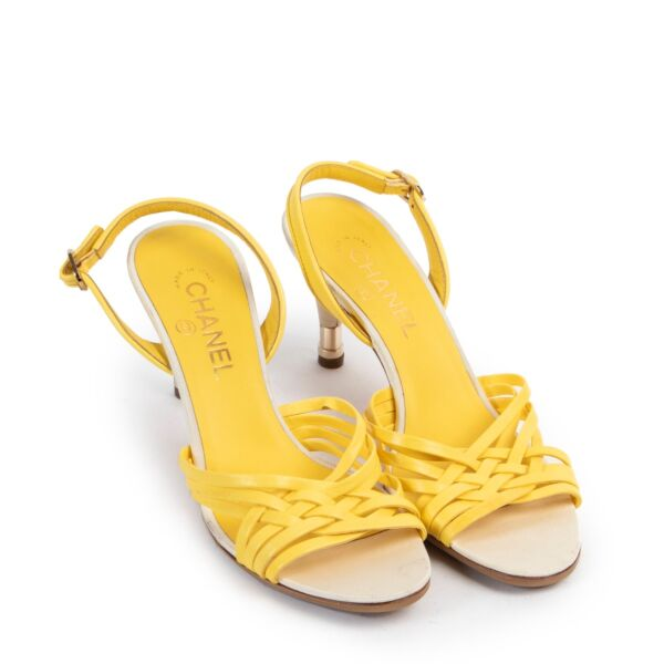 Chanel Yellow Sandals - Size 39