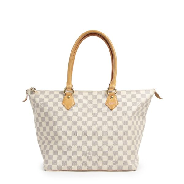 Louis Vuitton Damier Azur Saleya Shoulder Bag buy and sell your designer bags