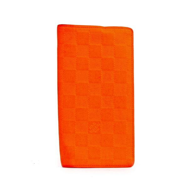 Authentic Secondhand Louis Vuitton Magma Orange Brazza Damier Infini Leather Wallet