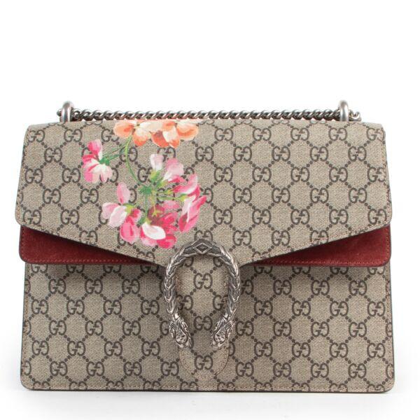 Shop safe online authentic Gucci Floral Monogram Dionysus Shoulder Bag.