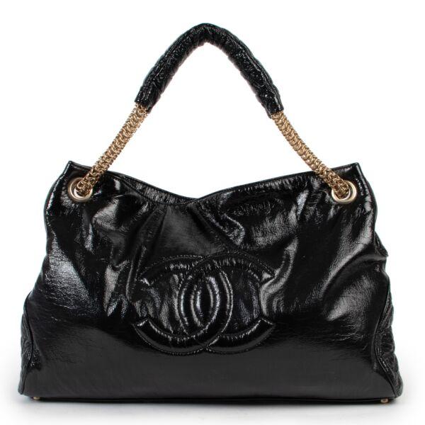 Chanel Black Patent Shoulder Bag