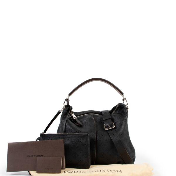 Louis Vuitton Black Selene PM Mahina Shoulder Bag