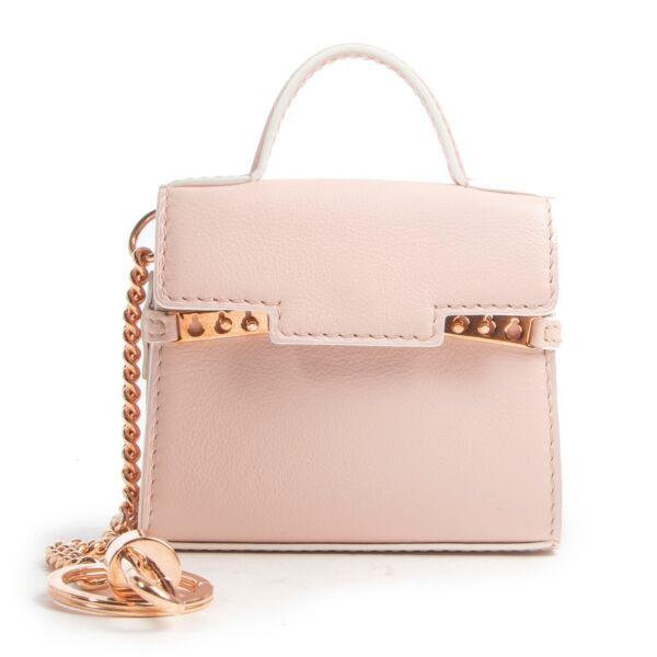 Shop safe online authentic Delvaux Soft Pink Nude Tempête Bag Charm