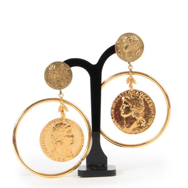 Dolce & Gabbana Roman Gold Clip-On Earrings