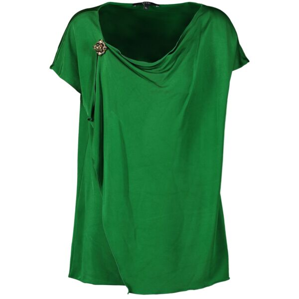 Gucci Green Waterfall Top for the best price at Labellov secondhand luxury in Antwerp