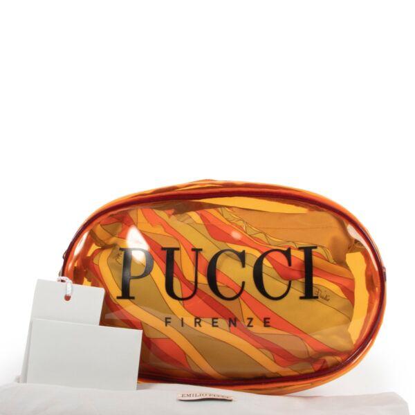 Pucci Orange PVC Cosmetic Pouch