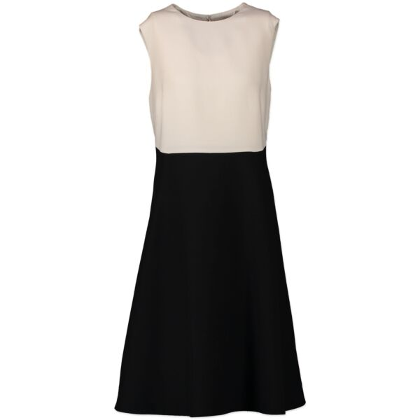 Authentic second-hand vintage Valentino Black And White A-line Dress - Size IT48 buy online webshop LabelLOV