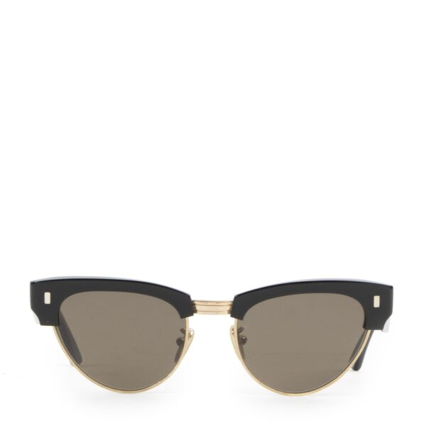Authentic secondhand Céline Black and Gold Cateye Sunglasses designer accessories fashion luxury vintage webshop safe secure online shopping