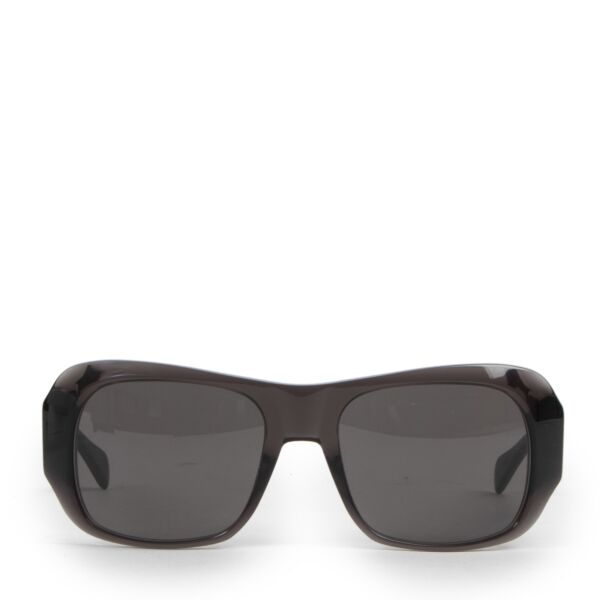 Authentic secondhand Céline Transparant Dark Grey Rectangular 0049 Sunglasses designer accessories fashion luxury vintage webshop safe secure online shopping