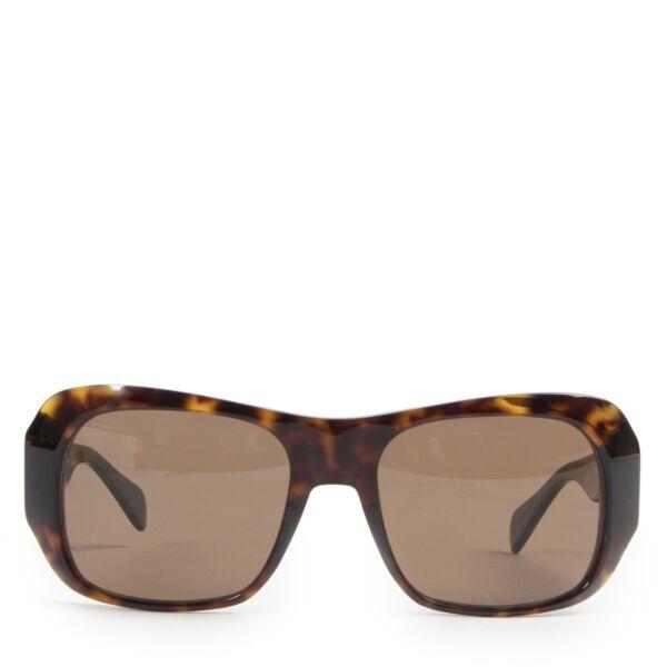 Céline Rectangular 0049 Dark Havana Sunglasses pour le meilleur prix
