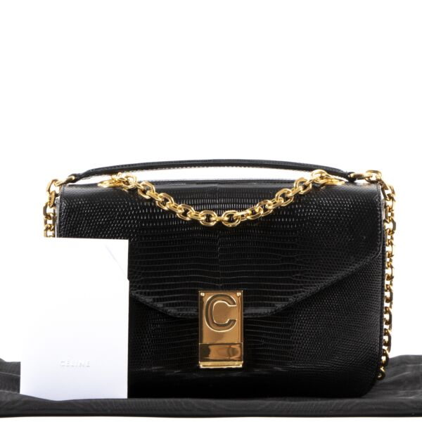 Celine Lezard C-Bag Black Medium Bag