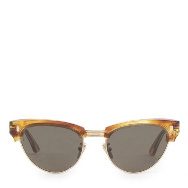 Céline Round 0059 Striped Honey Havana Sunglasses cateye for the best price