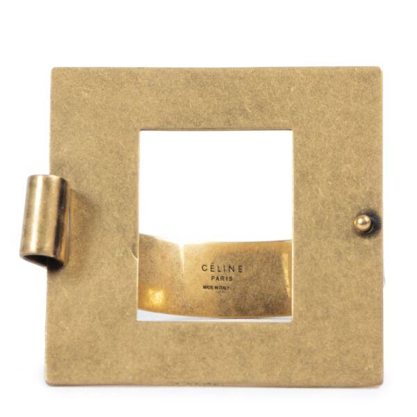Authentic secondhand Céline Golden Square Bracelet - Size M designer accessories fashion luxury vintage webshop safe secure online shopping