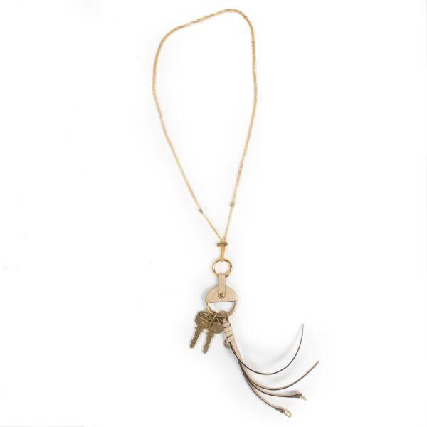 Authentieke Tweedehands Chloé Golden Long Necklace juiste prijs veilig online shoppen luxe merken webshop winkelen Antwerpen België mode fashion
