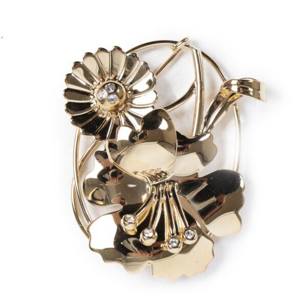 Authentic secondhand J.W. Anderson Golden Daisy Floral Earpiece designer accessories fashion luxury vintage webshop safe secure online shopping