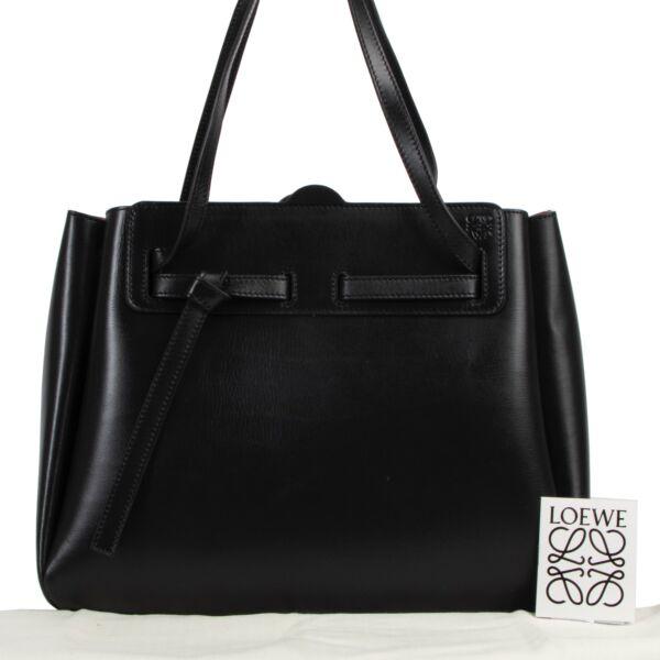 Loewe Black Boxcalf Lazo Tote