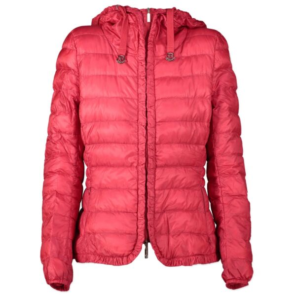 Shop safe online authentic second hand Moncler Red Jacket - Size 1in very good condition and at the right price at Labellov.com.