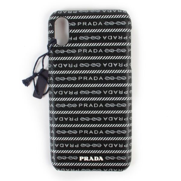 Buy an authentic second hand Prada black and white iPhone XS Max case at Labellov