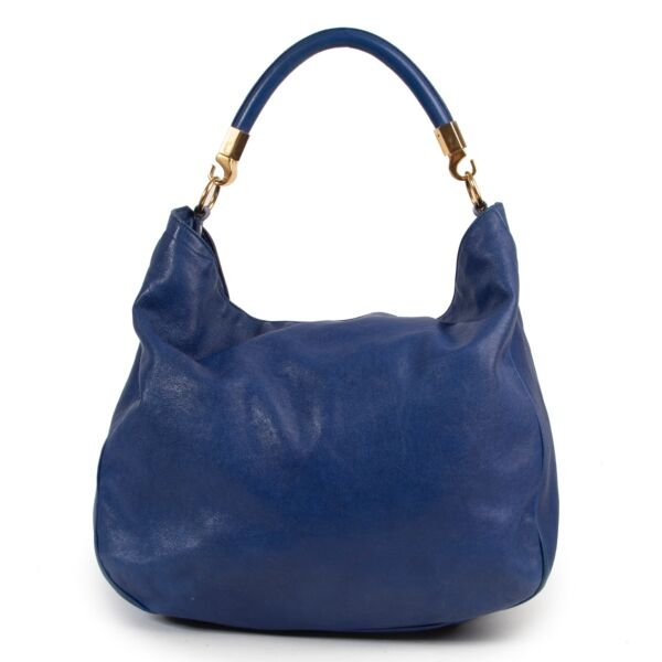 Shop safe online authentic Preloved Yves Saint Laurent bag in blue by Labellov in good condition and at the right price.