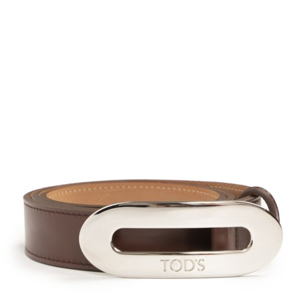 Tod's Brown Leather Belt - size 85 - for the best price Labellov secondhand luxury