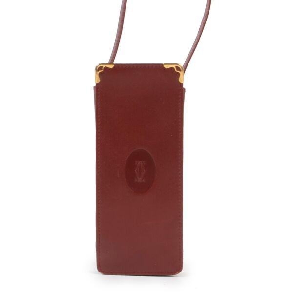 Original no fake Cartier Burgundy Leather Glasses Box Other by Labellov vintage shop for preloved designer goods