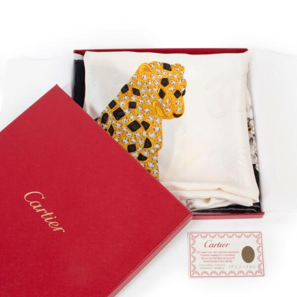 Cartier White Silk Scarf