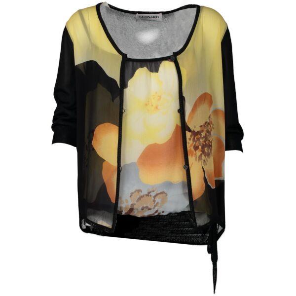 Authentic secondhand Leonard Flower Top & Cardigan Set - Size 40 designer clothing fashion luxury vintage webshop safe secure online shopping