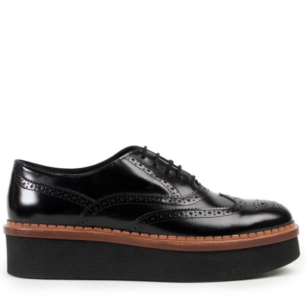 Tod's Leather Black Flats - Size 38,5