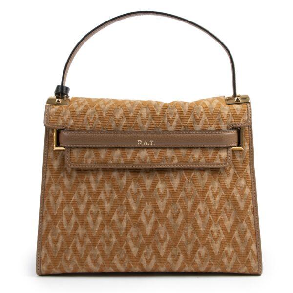 Authentic secondhand Valentino Garavani Camel Logo Shoulder Bag designer bags fashion luxury vintage webshop safe secure online shopping