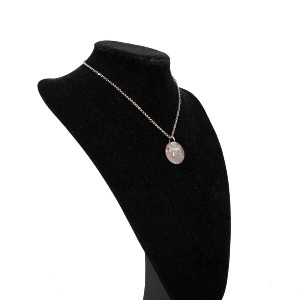 Chanel Silver Pink Necklace