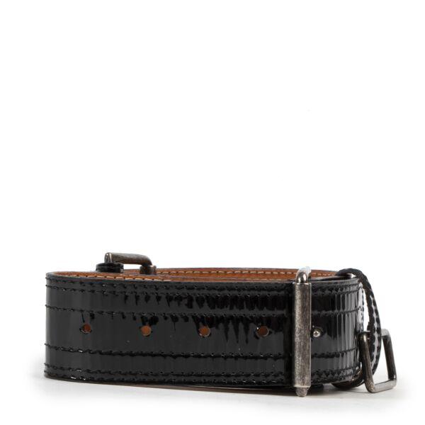 koop veilig online tegen de beste prijs Dries Van Noten Black Patent Belt - size 75
