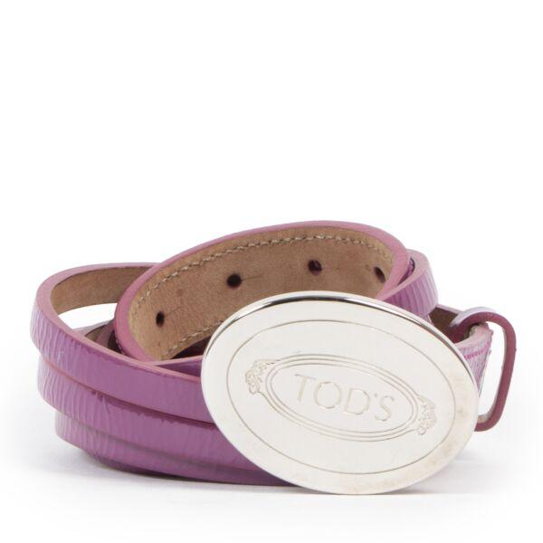 Tod's Purple Patent Leather Belt