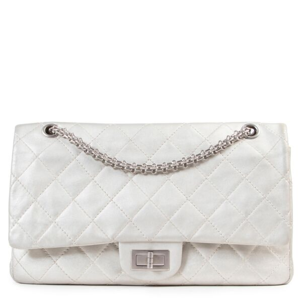 Chanel Grey Metallic Reissue 2.55 227 Bag for the best price at Labellov