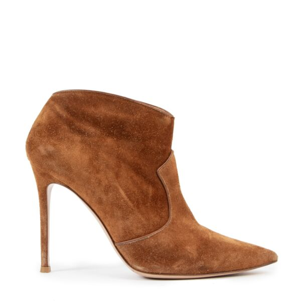 Gianvito Rossi Suede Western Ankle Boots - size 39