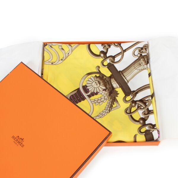Hermès Yellow Cliquetis Scarf