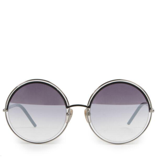 Authentieke Tweedehands Marc Jacobs Black Marc 11s Round Sunglasses juiste prijs veilig online shoppen luxe merken webshop winkelen Antwerpen België mode fashion